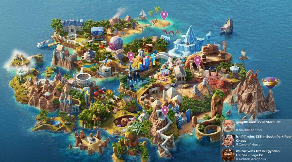 Casino Heroe žemėlapis