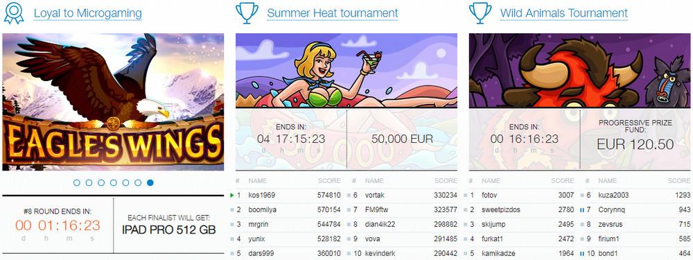 Casino X turnyrai