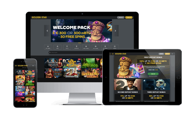 Mobili Golden Star Casino versija