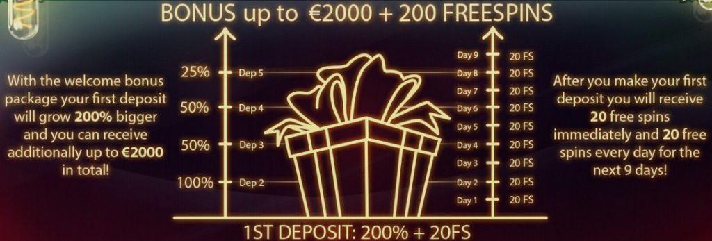 JoyCasino: 2000 EUR premija + 200 sukimai