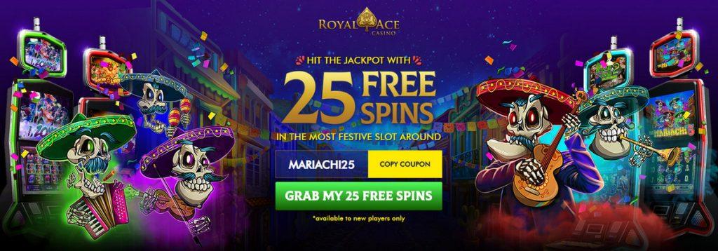 Royal Ace Casino nemokamų sukimų