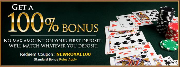 Royal Ace Casino neįtikėtiną pasiūlymą 100%
