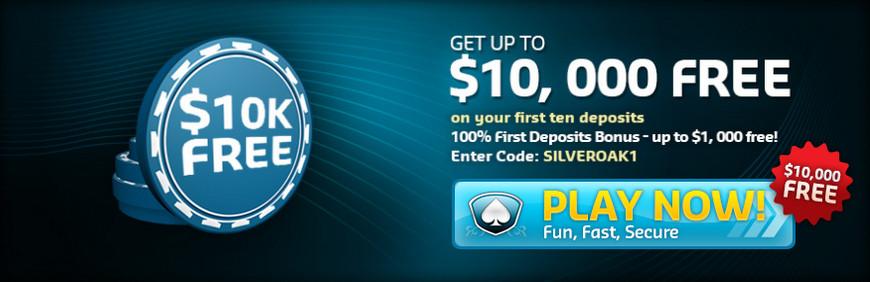 Silver Oak kazino premija $10000
