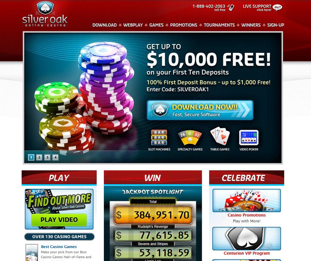Silver Oak Casino apžvalga