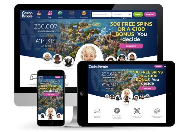 Casino Heroes mobili versija