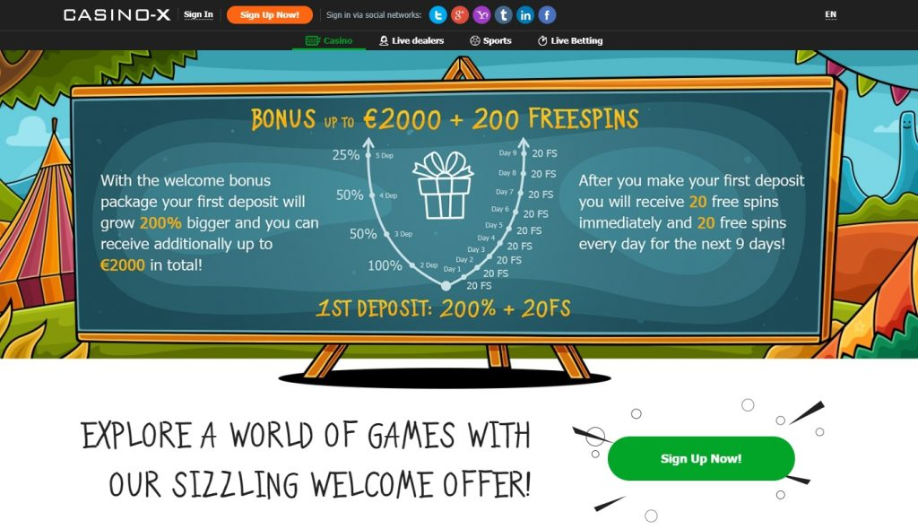 Casino X bonusai
