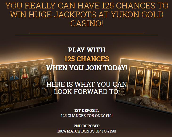 Yukon Gold Casino bonusai