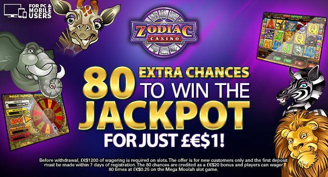 Zodiac Casino bonusai