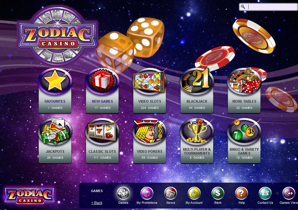 Zodiac Casino žaidimų automatai