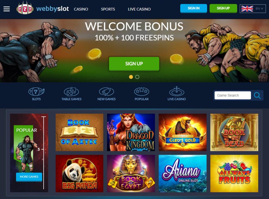 Oficiali Webbyslot casino