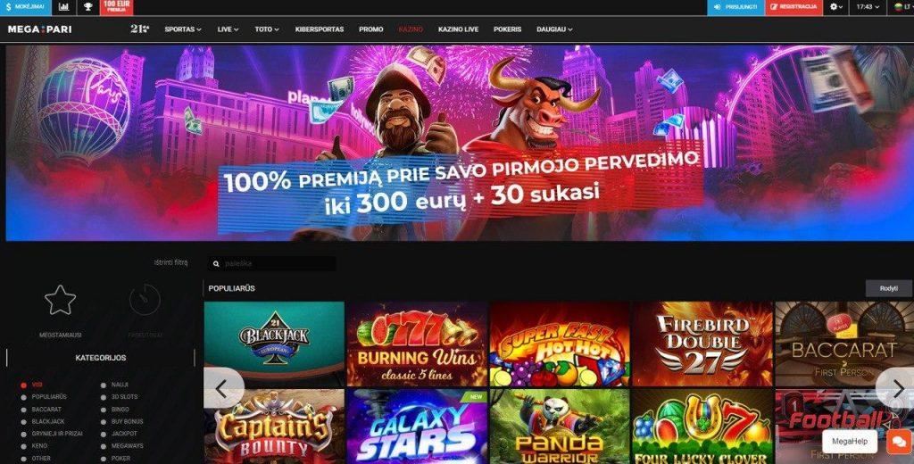 Oficiali Megapari casino