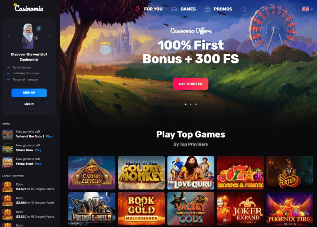 Oficiali Casinomia kazino