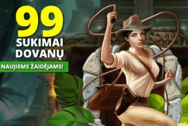 99 sukimai dovanų naujiems žaidėjams