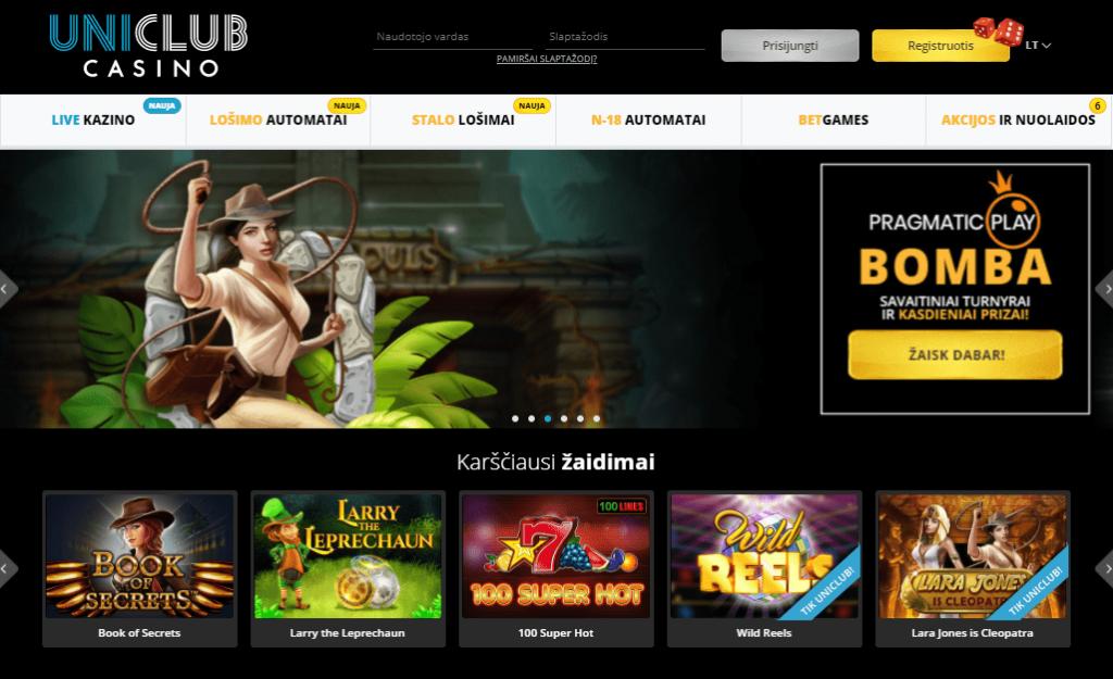 Oficiali Uniclub casino svetainė