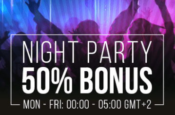 Gauk 50% bonusą už savo depozitą nakties metu