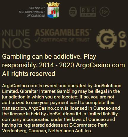 Argo kazino savininkas ir operatorius