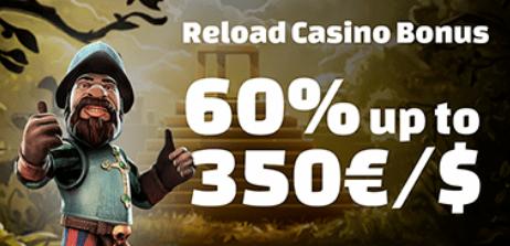 60% RELOAD kazino premija