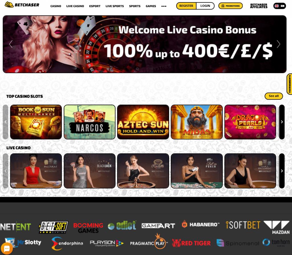 Oficiali Betchaser Casino internetinė svetainė