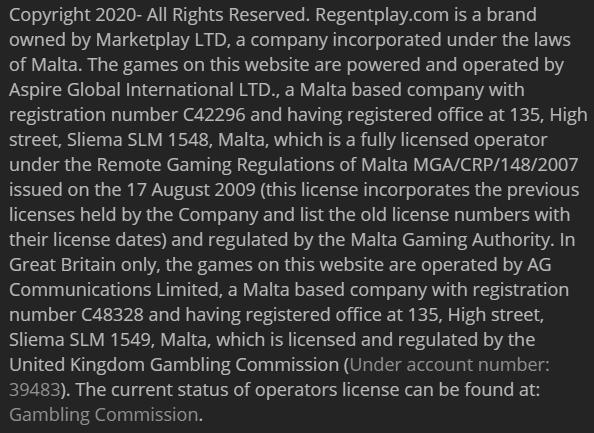 žaidimų operatorius turi reguliuojančių organų suteiktą sertifikatą