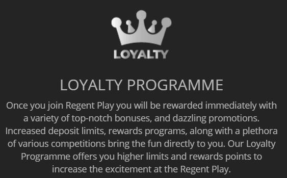 Regent Play Casino privilegijos ir lojalumo programa