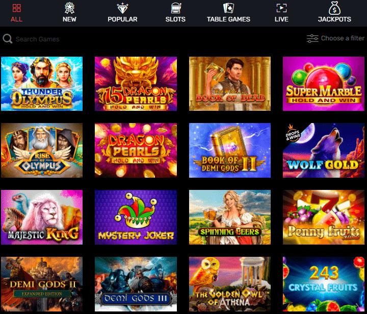 Slottyway Casino lošimo automatai
