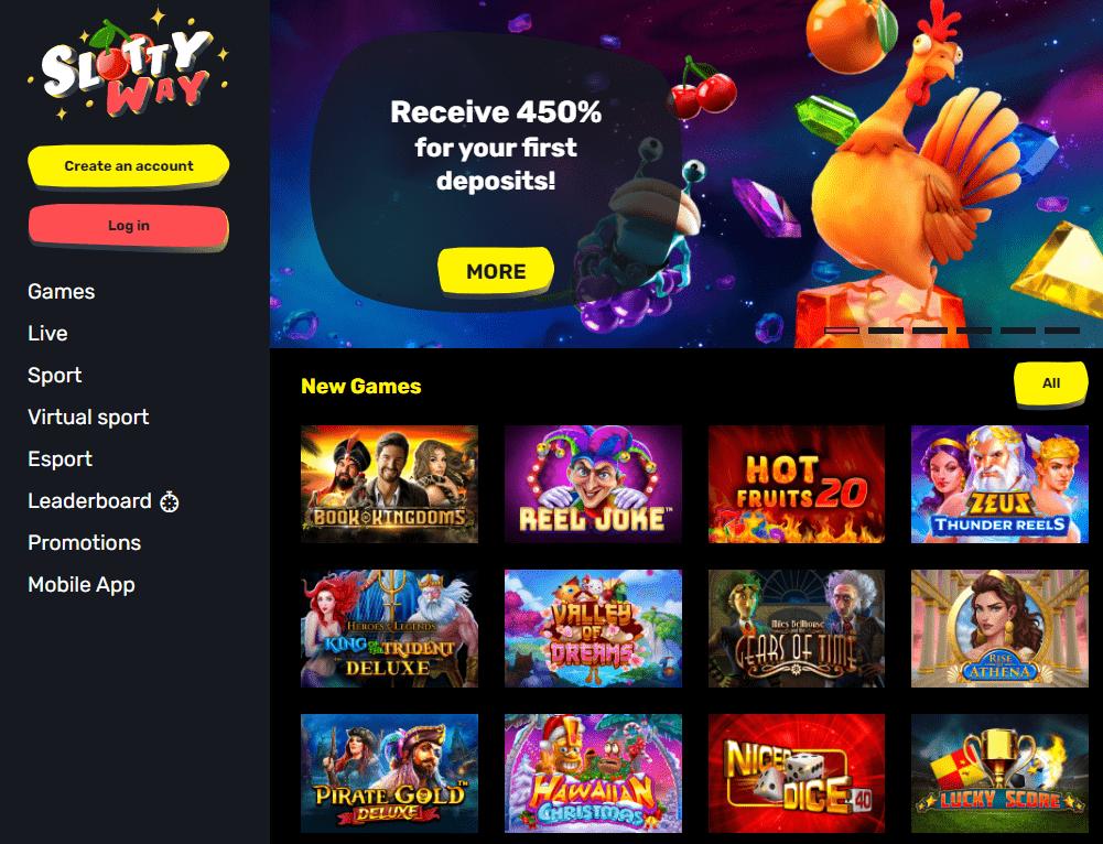 Oficiali Slottyway kazino internetinė svetainė