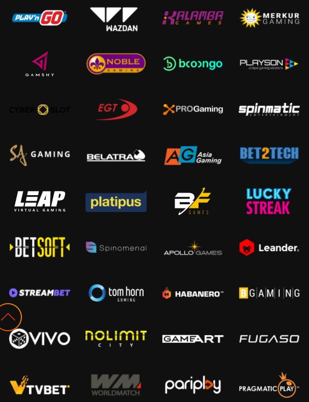 2,500+ azartiniai žaidimai nuo 66 kazino žaidimų kūrėjų