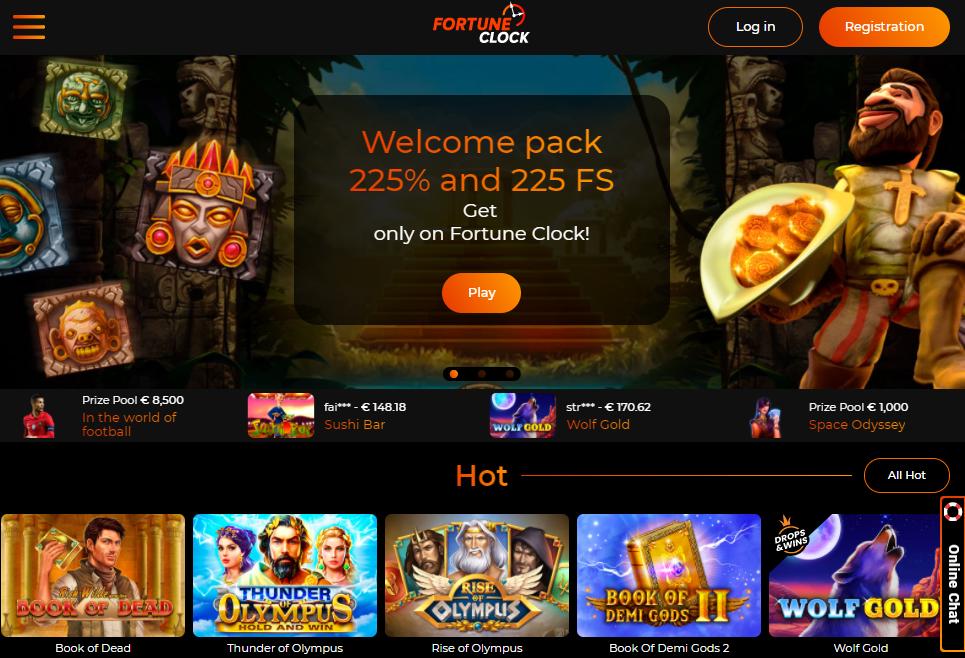 Fortune Clock - oficiali kazino svetainė