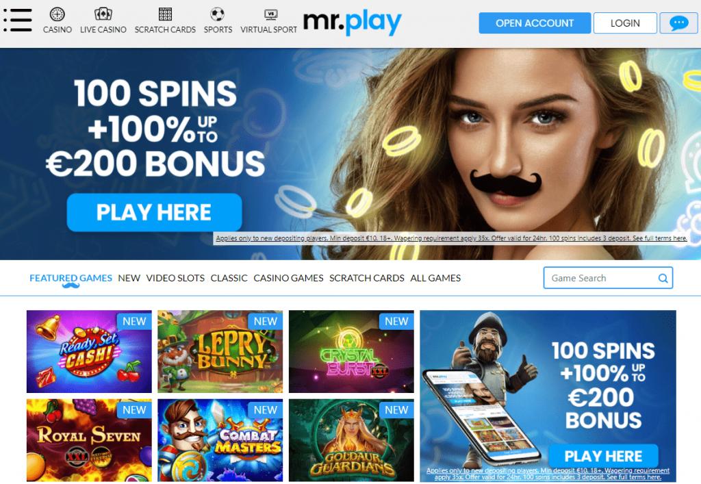 Oficiali kazino online Mr Play internetinė svetainė