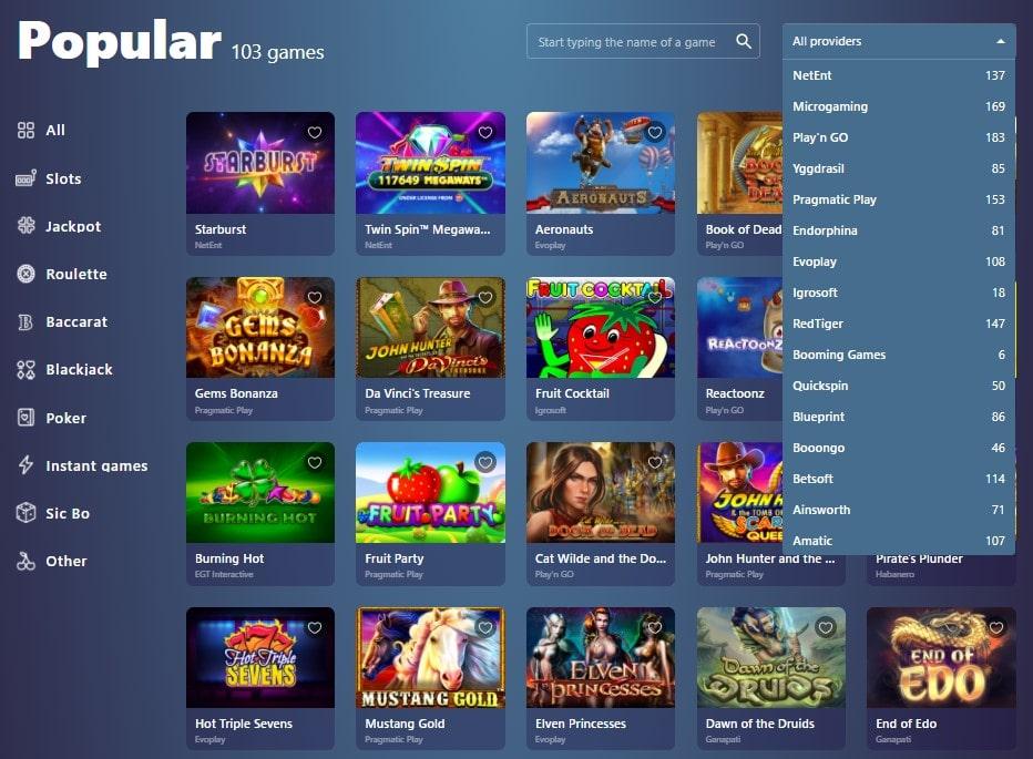 Lošimo automatai internetiniame kazino Casinoin