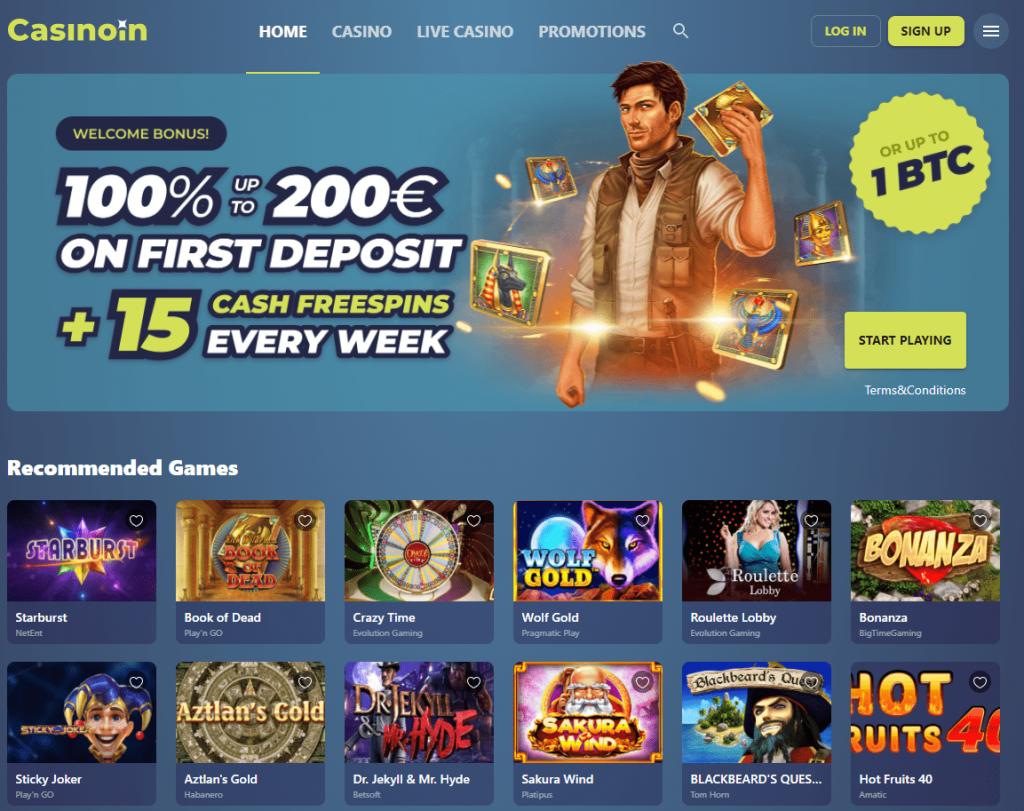 Oficiali Casinoin Casino internetinė svetainė