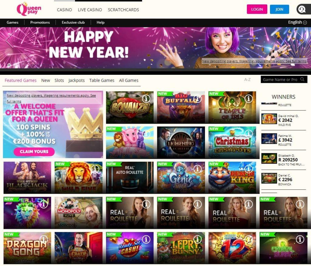 Oficiali Queen Play Casino internetinė svetainė