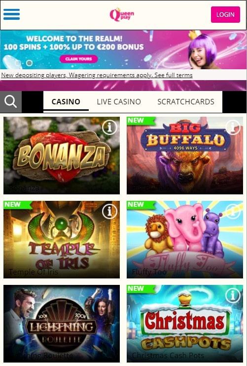 Queen Play mobilus kazino