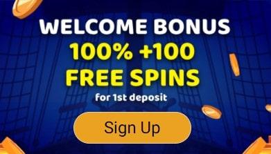 Naujoko bonusas iki 300 € + 100 kazino sukimai