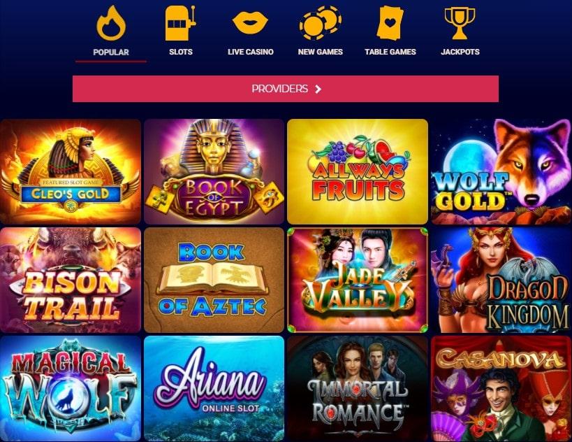 Lošimo automatai internetiniame kazino Savarona