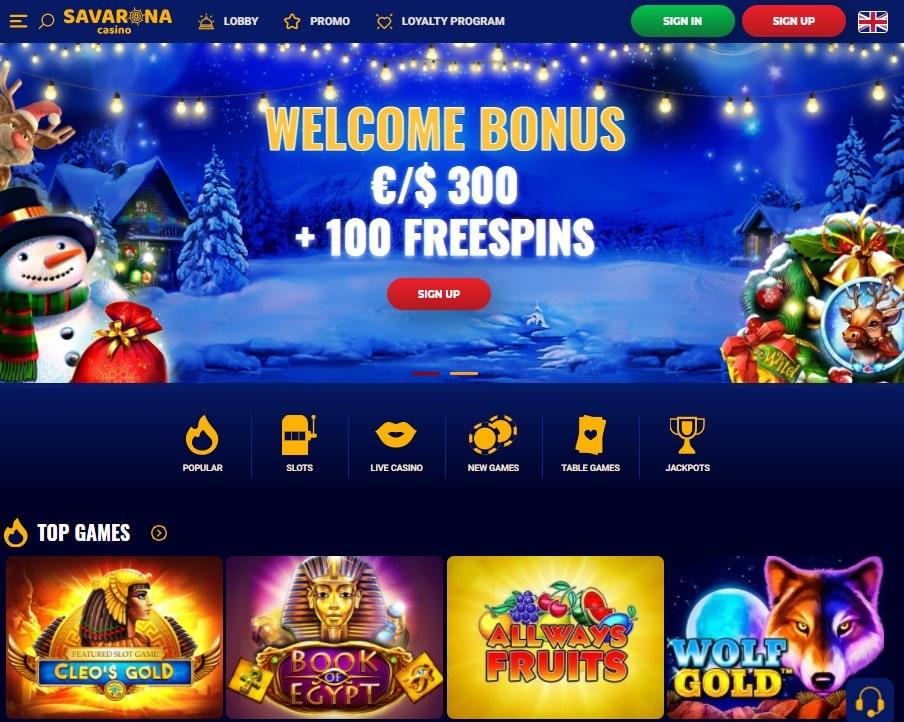 Oficiali Savarona Casino internetinė svetainė
