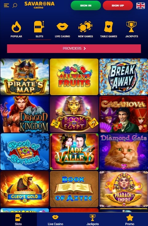Savarona mobilus kazino