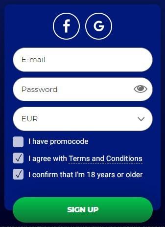 Registracija kazino internetu Savarona