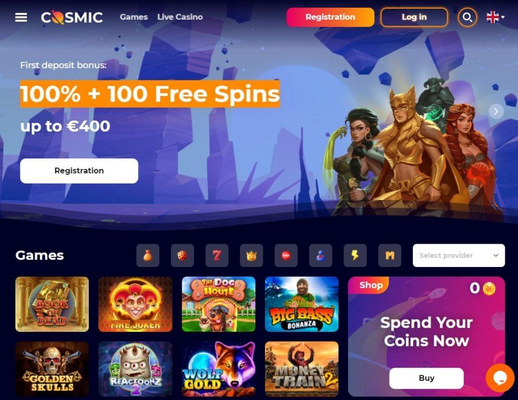 Oficiali CosmicSlot kazino internetinė svetainė