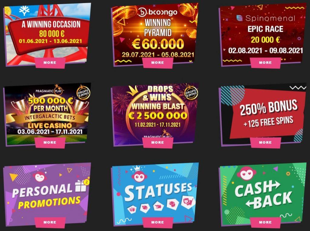 Booi kazino akcijos