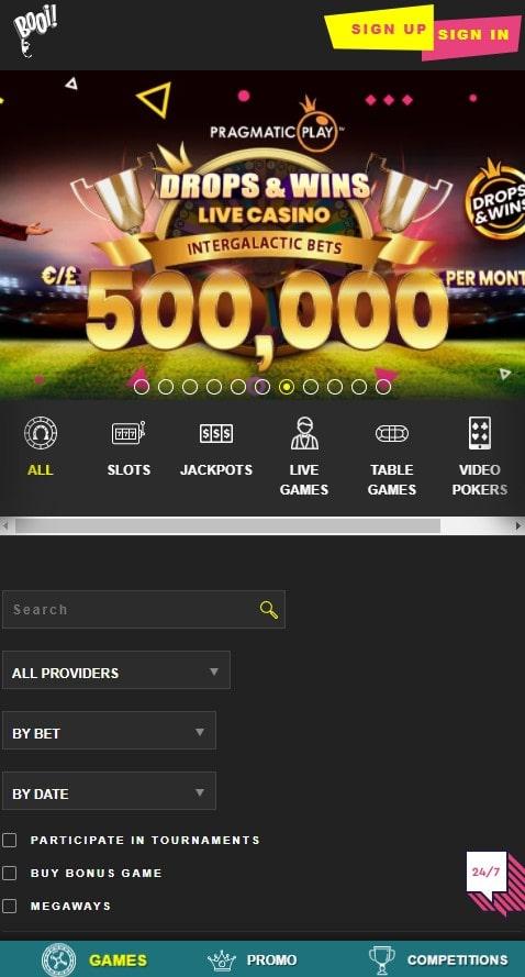 Booi mobilus kazino