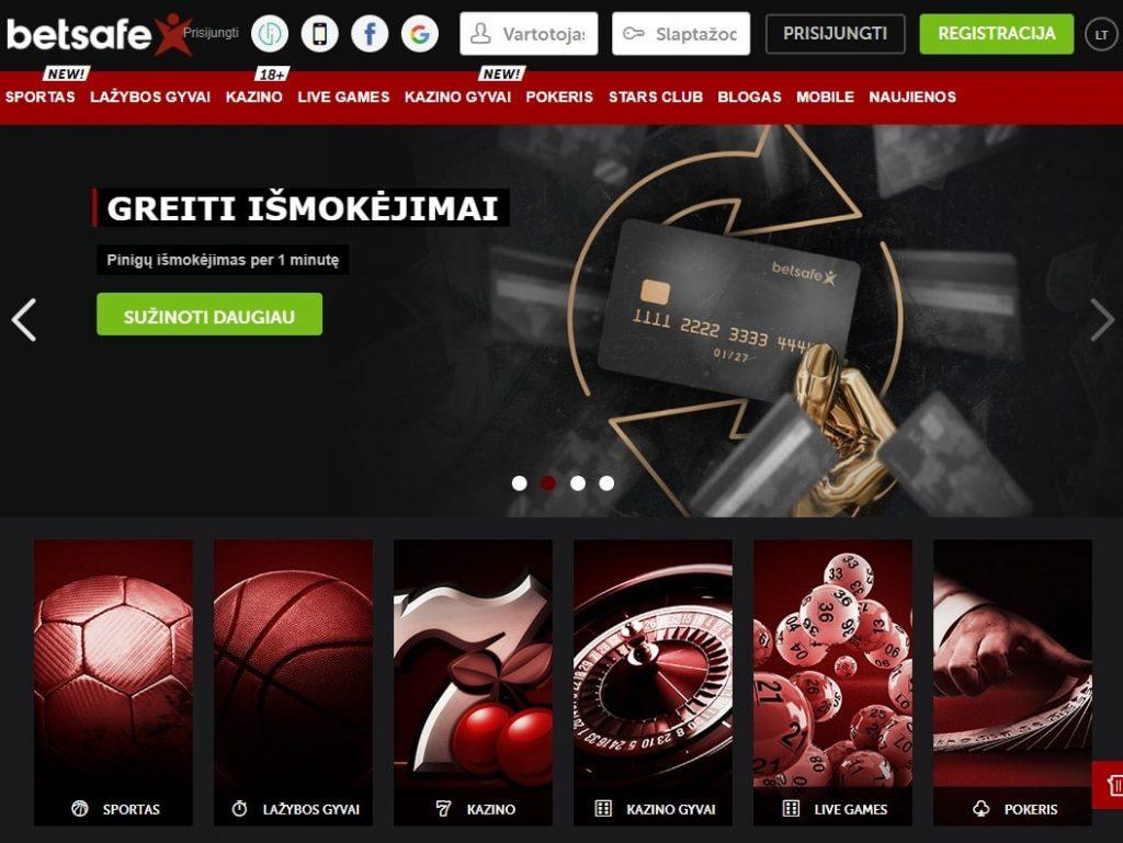 Oficiali Betsafe Casino internetinė svetainė
